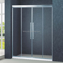 Aluminium 2 fixed 2 sliding Shower Screen(KD6017)