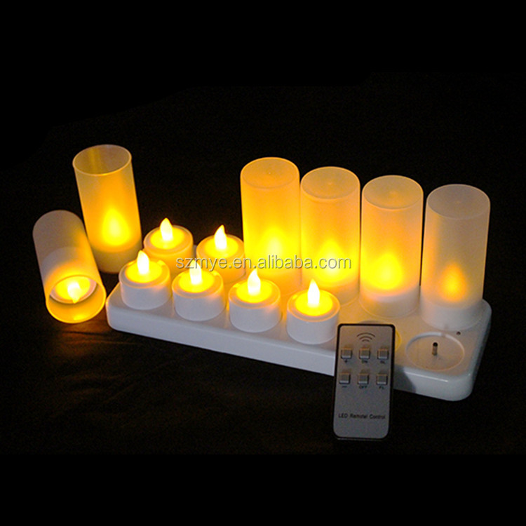 12leds/set rechargeable decorative christmas led artificial candle light