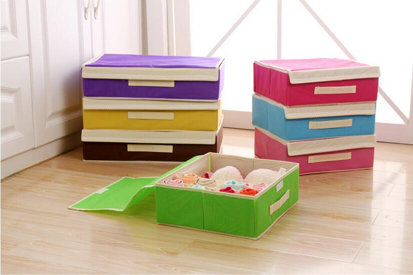 2017 hot style bubble grain custom non-woven home underwear storage boxes