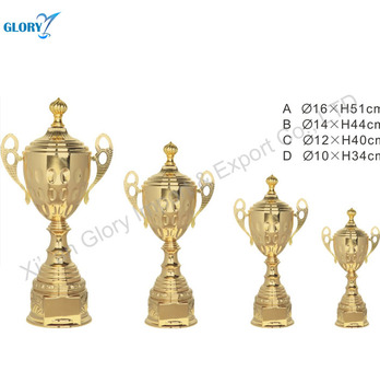customized metal trophy cups for sports