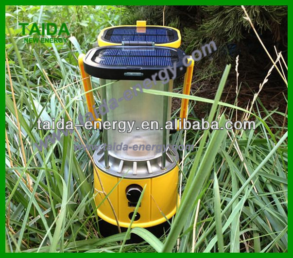 Emergency Rechargeable Led Wind-up Dynamo Solar Camping Light with Compass
