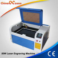 Homemade 50W 4060 CO2 Laser Glass Bottle Engraving Machine
