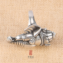 Custom made handmade sterling silver elephant shape arab men ring with great price