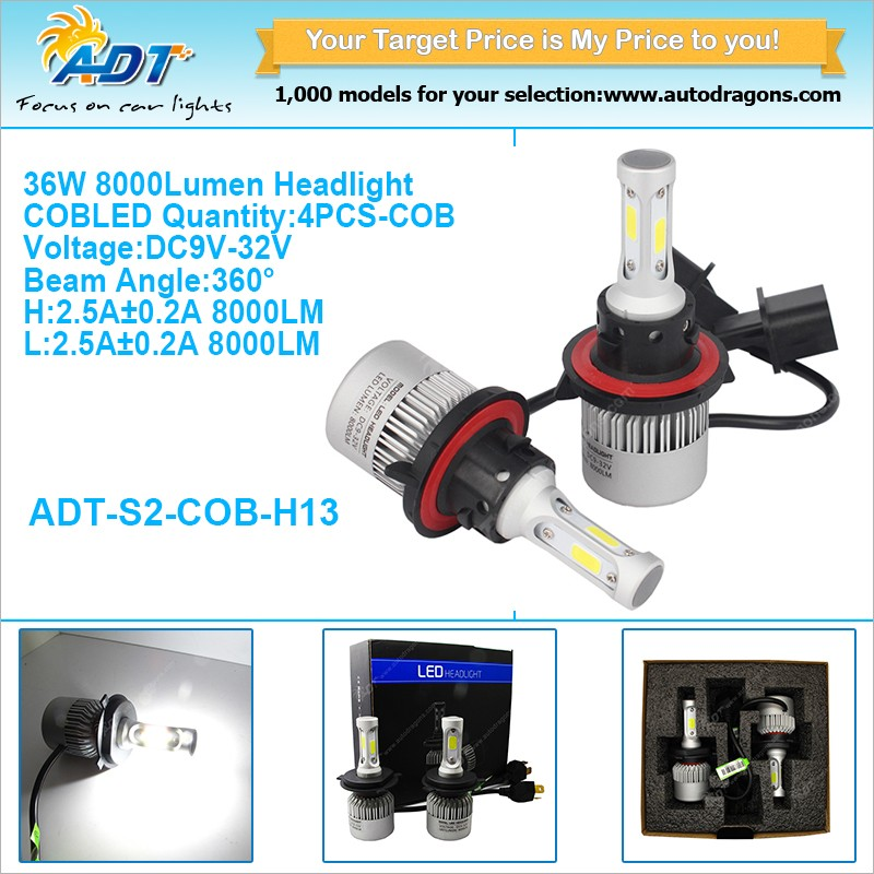 2017 Latest technology 36W super bright car led headlight
