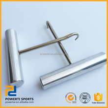 String pull hook for tennis and badminton machine