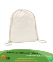 White drawstring cotton bag - SCHOOL GYM PE BOOK BAGS - ECO
