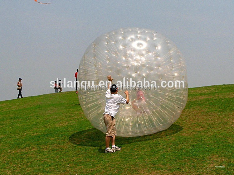 PVC/TPU Dia 3m Inflatable Human Hamster Zorb balls For kids and adult
