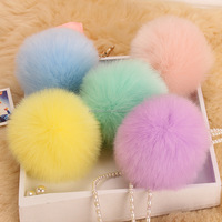 colorful fur ball pendant wholesale pompon Artificial wool pendant for handbag & keychain