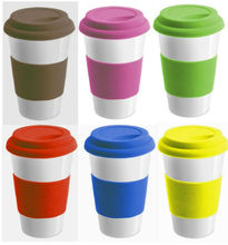 Hot Sale Bpa Free Wholesale Elastic Grip Silicone Coffee Cup Cover Lid