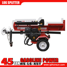 Professional CE approved Honda Gx200 gasoline powered hydraulic 45T used gas log splitter
