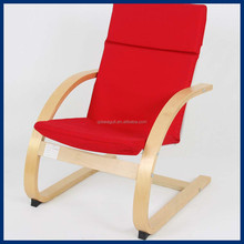 Hot sale!Birch bentwood hand sponge filled kid relax leisure chair