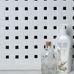 MM-Mosaic basket weave matt ceramic mosaic tile for shower floor