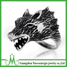 Guangzhou jewelry wholesale stainless steel animal rings for men
