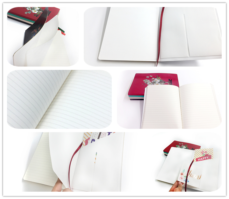 Unique Design Custom Logo A5 Ruled Line Faux PU Leather Notebook With Packaging Box