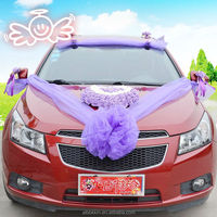 China wholesale hydrangea rose flower artificial wedding car decoration