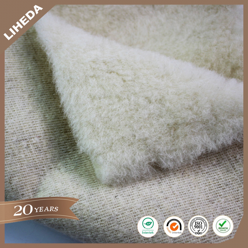 "China manufacture natural color synthetic wool fabric for ""Ugg boots"""
