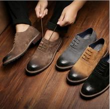 cy10476a leather fashion man pointed toe dress leather shoes