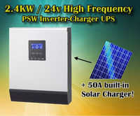 3KVA 24v 2400w 230v pure sine wave Solar power inverter charger PWM solar inverter charger