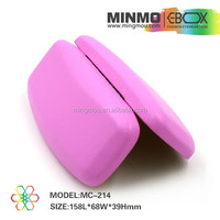 best selling products, pink litch leather danyang mingmou hard glasses case, lens case