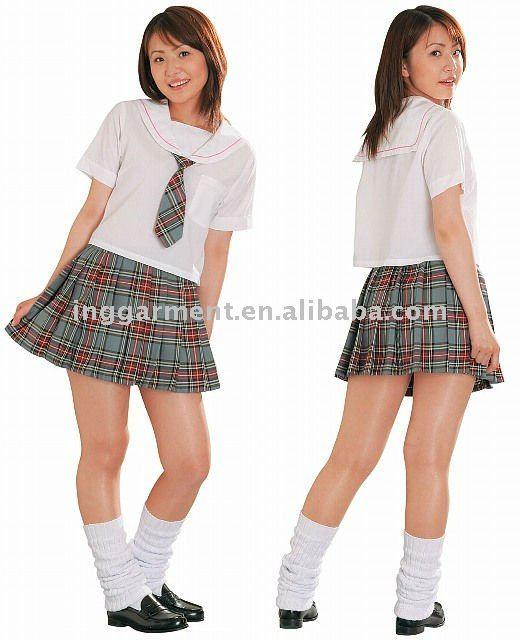 School Girl's Plaid Skirt - Buy School Girl's Plaid Skirt,Girls In ...