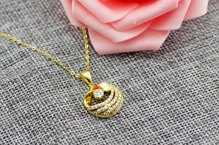 NEW fashion 925 sterling silver rose gold lovely necklace jewelry