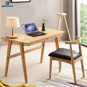 Compact New Design Kids Study Table Rubber Wood Indoor Furniture 2017