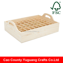 Carrying Case Holds 63 Bottles Wooden Essential Oil Bottle Storage Tray