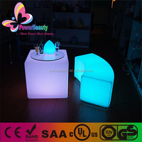 rgb color changing outdoor lighting bar table furniture led cube table