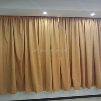 dyed slub blind and curtains together