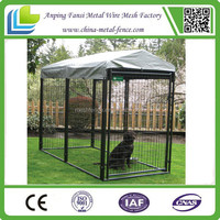 Alibaba China - iron wire fence cheap block of 5 dog kennels with mesh run sections