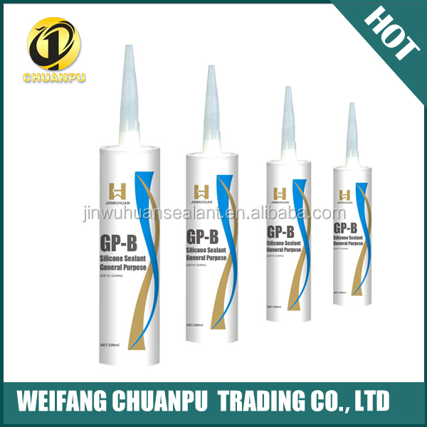 famous brand Jinwuhuan GP Fast Cure Acetoxy white and black color Silicone Sealant