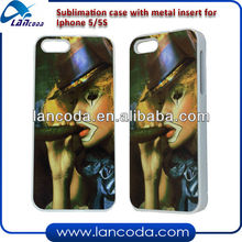 sublimation hard pc phone cases for iphone5/5s