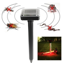 High quality Solar Power Portable Rat Mice Rodent Mole Pest Repellent Sonic Garden Wave Repeller