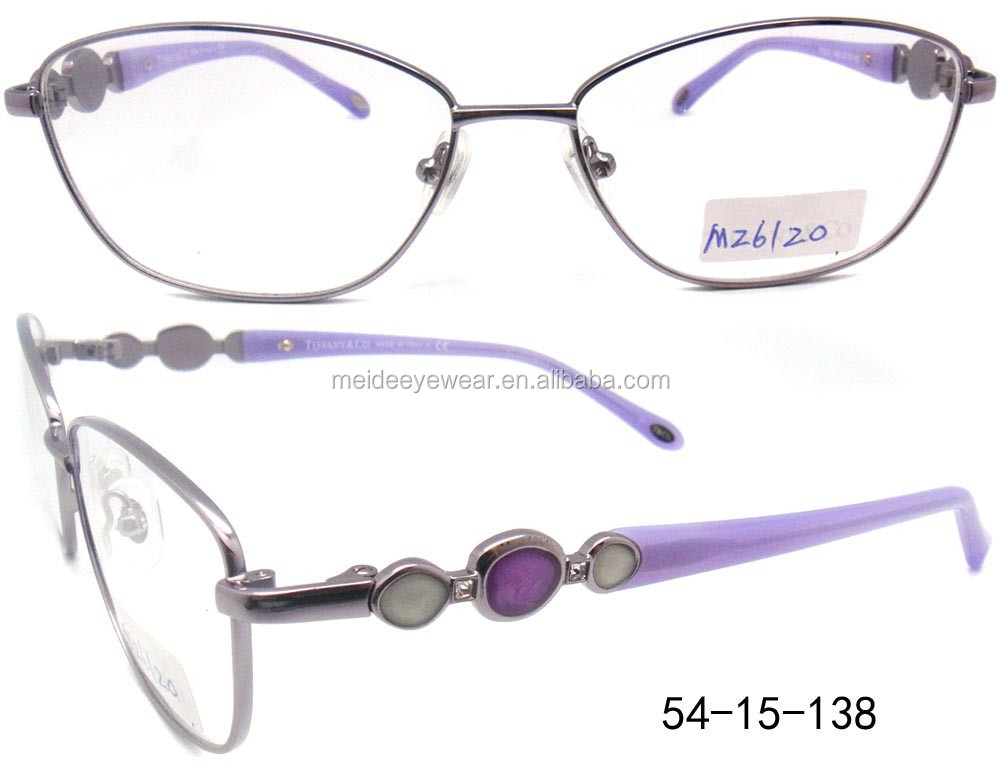Metal optical frame 2015 half Rim Metal fashion optical frame models