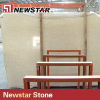 Cheap Egypt polished honed beige marble slab