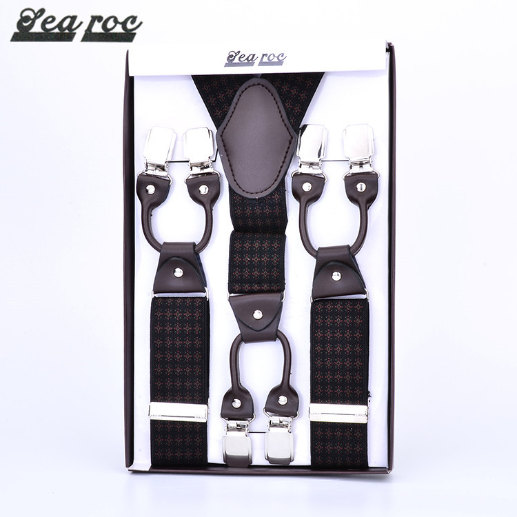 Alibaba China popular style personalized work belt mens suspenders with strong clips