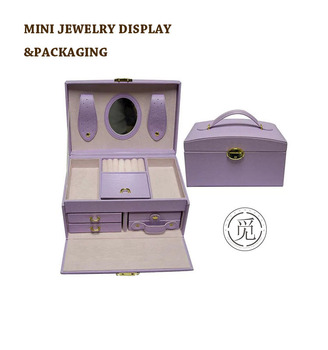 Luxury packaging boxes storage jewelry box, Leatherette velvet jewellery case