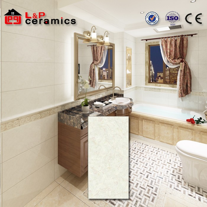 new product marbe look textured white glossy ceramic wall tile