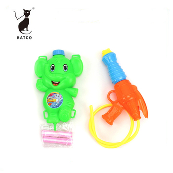 2019 Hottest Plastic Water Gun With Cartoon Backpack For Promotion