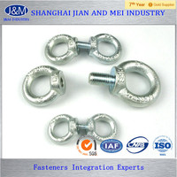 galvanized DIN580 lifting eye bolt and nut