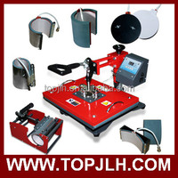 High quality high pressure t shirt press 8 in 1 heat transfer machine