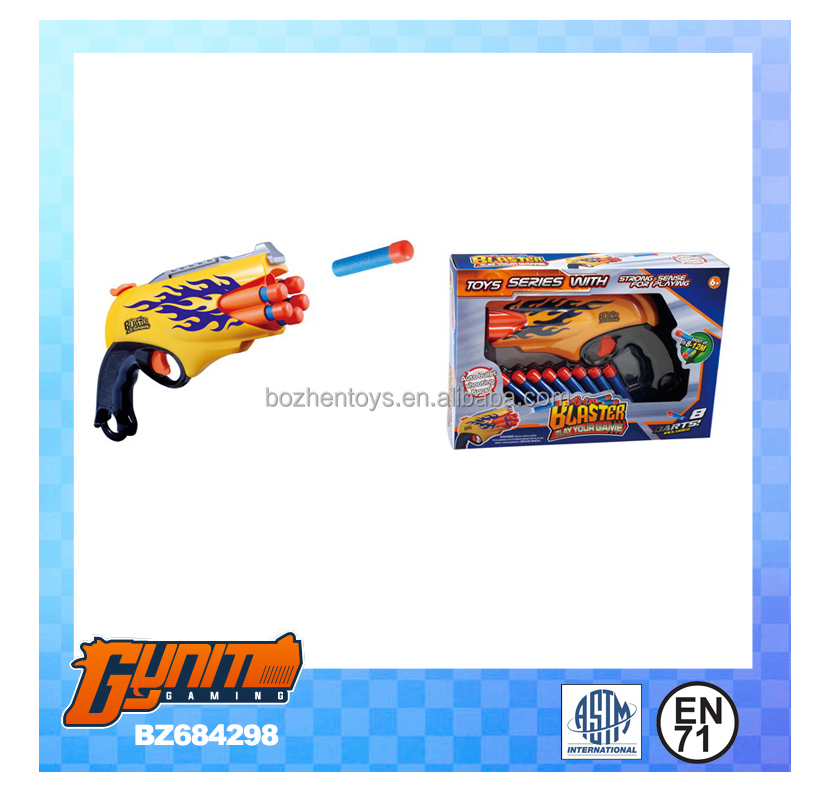 China import plastic airsof shooting gun with soft bullet toys for kids