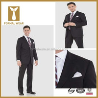 High quality 100% superfine wool black tailoring suits