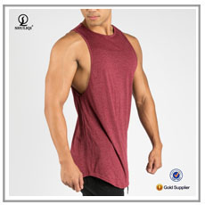 Customized athletic tank tops with hood mens 100%cotton bodybuilding hoodie stringer tank top
