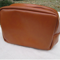Wholesale Mustache PU Leather Men Pouch Toiletry Cosmetic Bag Shaving bag with a small handle from DOM-104137
