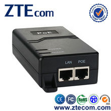 ZTEcom Hot Selling Super Safety 30W 10/100M PoE Injector Splitter with CE