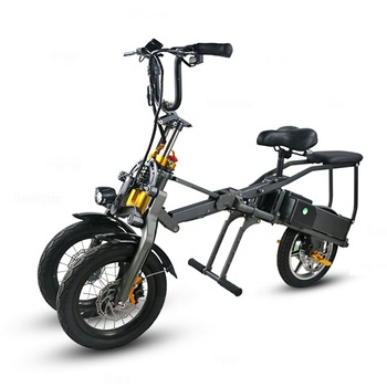 2018 14 inch 19 mph 50miles off road cheap foldable 3 wheel electric scooter for adult