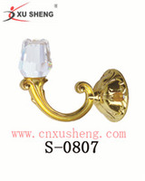 Hot sales rose crystal curtain hook