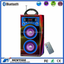NT-WS001 trade assurance supplier 2.0 CH wireless bluetooth wooden speaker