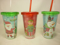 plastic Christmas cups